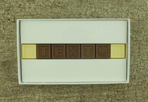 7er Schoko-SMS - Mit deinem Wunschtext