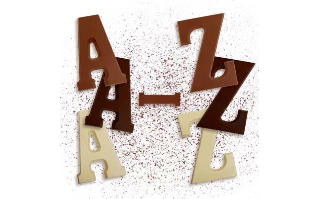 Unsere großen Schokoladenbuchstaben