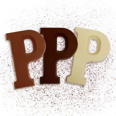 Schoko-Großbuchstabe P