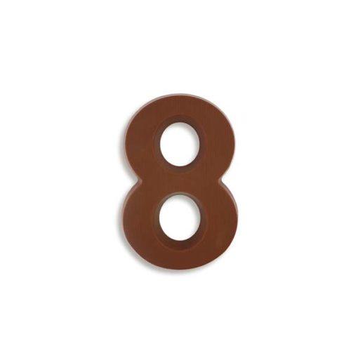 Große Schokozahl 8