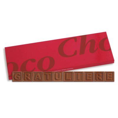 10er-Schoko-SMS - Gratuliere