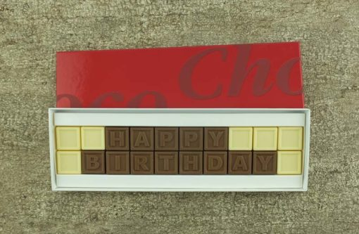20er-Schoko-SMS - Happy Birthday