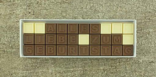 30er-Schoko-SMS - Alles Liebe zum Geburtstag
