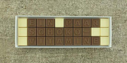 30er-Schoko-SMS - Ein paar schokovitamine