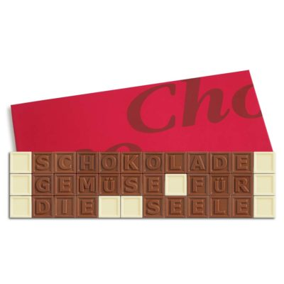 36er-Schoko-SMS - Schokolade Gemüse für die Seele