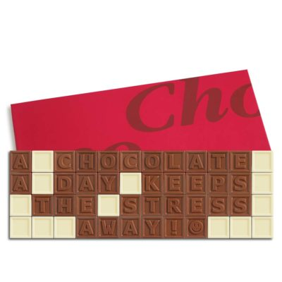 48er-Schoko-SMS - A chocolate a day keeps the stress away!