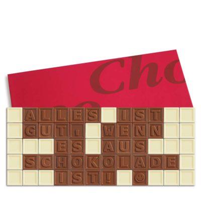 60er-Schoko-SMS – Alles ist gut wenn es aus Schokolade ist!