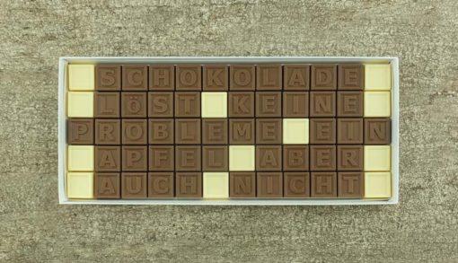 60er-Schoko-SMS - Schokolade löst keine Probleme ein Apfel aber auch nicht